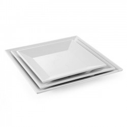 Talerz kwadratowy z melaminy 405x405 mm