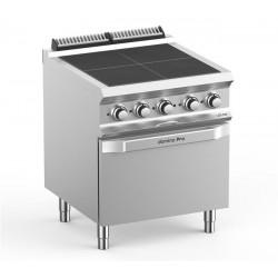 Kuchnia elektryczna- 4 płytowa z piekarnikiem elektrycznym GN2/1, linia DominaPro 700