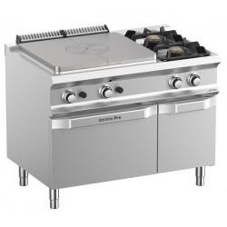 Kuchnia gazowa 2 - palnikowa z dużą płytą grzewczą, piekarnikiem gazowym i szafką DominaPro 700