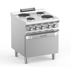 Kuchnia elektryczna 4-płytowa z piekarnikiem elektrycznym GN2/1, linia DominaPro 700
