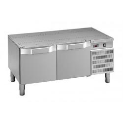 Podstawa chłodnicza pod urządzenia stołowe, linia DominaPro 700, 1200x700x600 mm, 2 szuflady