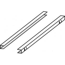 Prowadnice ze stali nierdzewnej na półki – zestaw 2 szt. Tylko szafy PANORAMA