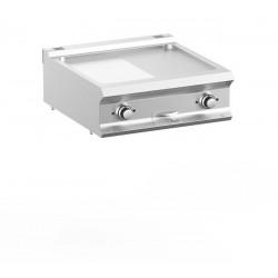 Płyta grillowa elektryczna podwójna nastawna 1/2 gładka + 1/2 ryflowana, linia DominaPro 700