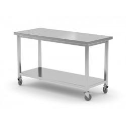 Stół jezdny z półką - spawany, o wym. 1500x700x850 mm