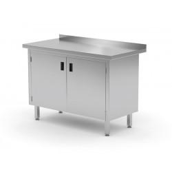 Stół przyścienny szafka z drzwiami na zawiasach, o wym. 1000x600x850 mm