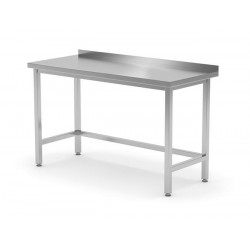 Stół przyścienny wzmocniony bez półki - spawany, o wym. 1400x600x850 mm