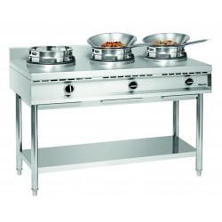 Kuchenka gazowa wok, 3 palniki