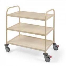 Wózek do serwowania w okleinie drewnianej jasny