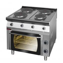 Kuchnia elektryczna z piekarnikiem elektrycznym GN 1/1 - MAR.700.KE-4/PE-1* - Kromet