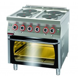 Kuchnia elektryczna z piekarnikiem elektrycznym GN 2/1 - MAR.700.KE-4/PE-2* - Kromet