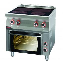 Kuchnia elektryczna ceramiczna z piekarnikiem elektrycznym GN 1/1 - MAR.700.KE-4C/PE-1* - Kromet