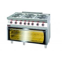 Kuchnia elektryczna z piekarnikiem elektrycznym modu 3xGN 1/1 - MAR.700.KE-6/PE-3* - Kromet
