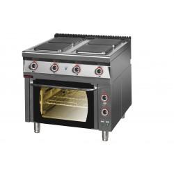 Kuchnia elektryczna z piekarnikiem elektrycznym GN 2/1 z termoobiegiem - MAR.900.KE-4/PE-1T* - Kromet