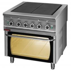 Kuchnia elektryczna 2 pytowa na podstawie otwartej - MAR.000.KEZ-4u/PE-2* - Kromet