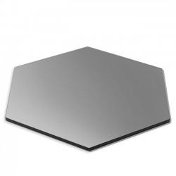 Płyta sześciokątna czarna ze szkła hartowanego 406mm