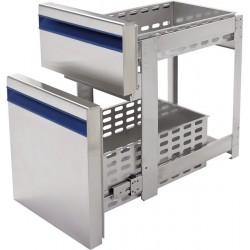 Blok szuflad 1x 1/3 + 1x 2/3 do stółów mroźniczych