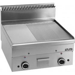 Płyta grillowa stołowa,1/2 gładka+ 1/2 ryftlowana - gazowa MBM600