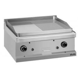 Płyta grillowa stołowa - gazowa, 1/2 gładka + 1/2 ryflowana, linia 700