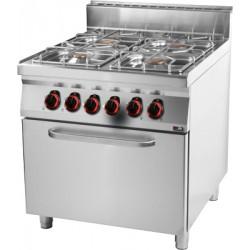 Kuchnia gazowa z piek. elektr. GN 2/1 - SPT 90/80 - 21 GE