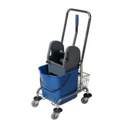 Wózek jednowiaderkowy 23l + prasa + uchwyt + koszyk