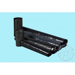 Worki LDPE mocne 60l a'25, czarne