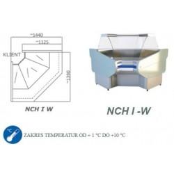 Narożnik chłodniczy z szybą giętą - NCH I-W 1.3