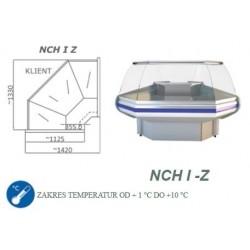 Narożnik chłodniczy z szybą giętą - NCH I-Z 1.3
