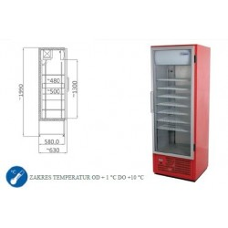 Szafa chłodnicza 400 l - SCH 401