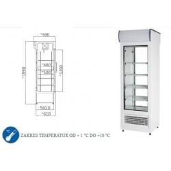 Szafa chłodnicza 400 l - SCH 402