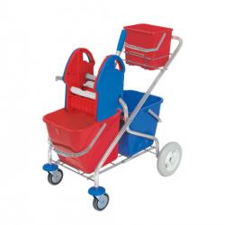 Podwójne wózki chromowane...