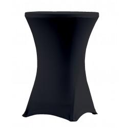 Stół koktajkowy z czarnym pokrowcem