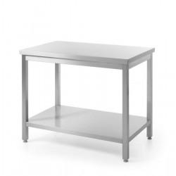 Stół roboczy centralny z półką - skręcany 1200 x 600