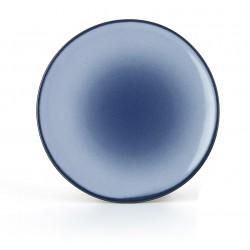 EQUINOXE Talerz płaski 31,5 cm, niebieski