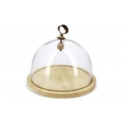 Revol Touch - Klosz szklany z podstawą drewnianą 3