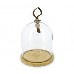 Revol Touch - Klosz szklany z podstawą drewnianą 2