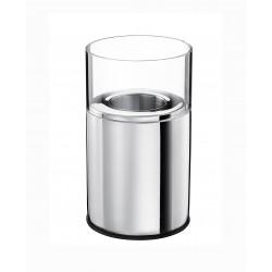 Świecznik stalowy-szklany