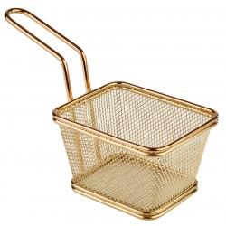 Koszyk stalowy powlekany PVD, złoty - 13 x 10,5 cm