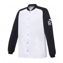 Vintage, bluza biało-czarna, długi rękaw, rozm. XL