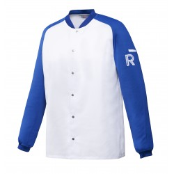 Vintage, bluza biało-niebieska, długi rękaw, S