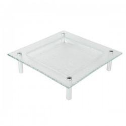 3D talerz szklany 30x30cm