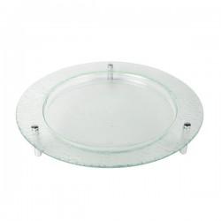 3D talerz szklany okrągły 40cm