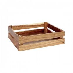 SUPER BOX  pojemnik drewniany GN1/2 akacja