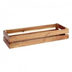 SUPER BOX  pojemnik drewniany GN2/4 akacja