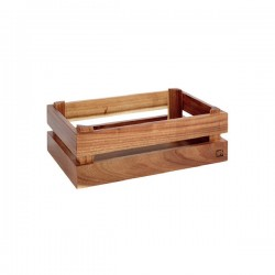 SUPER BOX  pojemnik drewniany GN1/4 akacja