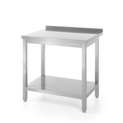 Stół roboczy przyścienny z półką - skręcany 600x600x(H)850