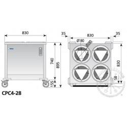 Wózek bankietowy CPC4-28