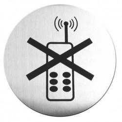 Tabliczka informacyjna samoprzylepna - zakaz używania telefonów komórkowych