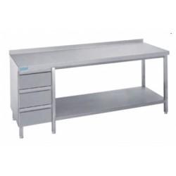 Stół do pracy z półką i blokiem 3 szuflad