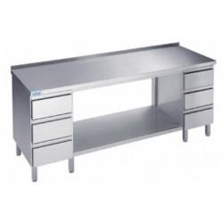 Stół do pracy z półką i 2 blokami 3 szuflad