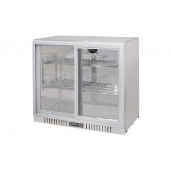 Barowa szafa chłodnicza  | chłodziarka podblatowa RQ-208SC-SS | 210l | drzwi przesuwne